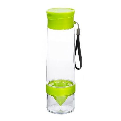YOKO DESIGN 1433 Botella Detox con exprimidor plástico Verde 26,7 x 7,5