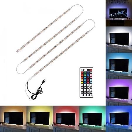 Tiras LED USB de Minger, 4x50cm-rgb, E27: Amazon.es: Hogar
