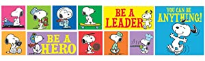 Eureka Classroom Supplies 'You Can Be Anything!' Motivational Snoopy Classroom Decoration Bulletin Board Set, 33 pcs