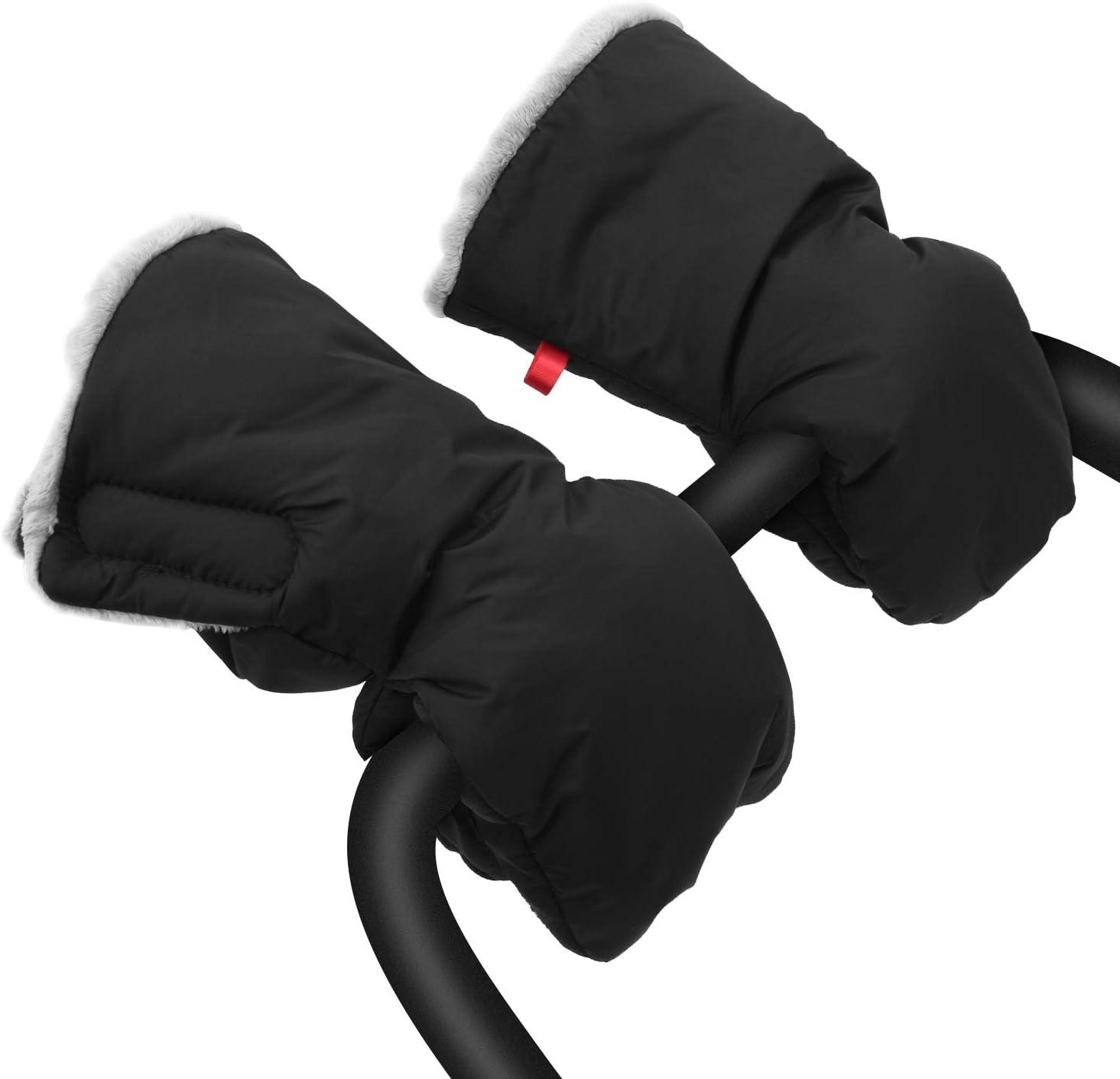 Saco de mano extra grueso para cochecito de bebé, guantes impermeables y anticongelante, para padres y cuidadores