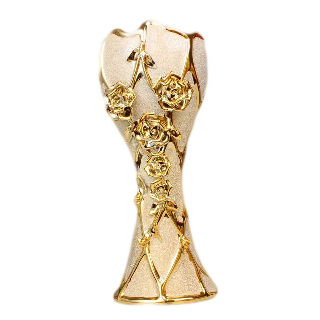 花瓶ヨーロッパセラミック床花挿入家の装飾の装飾品テレビキャビネットリビングルームの装飾彫刻卸売 LQX B07RTWVDRK