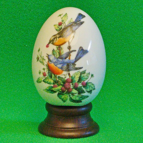 AVON 1984 Four Seasons Porcelain Egg Series - Summer's Song - Includes Box, Stand and Original Foam (Avon Porcelain Egg)