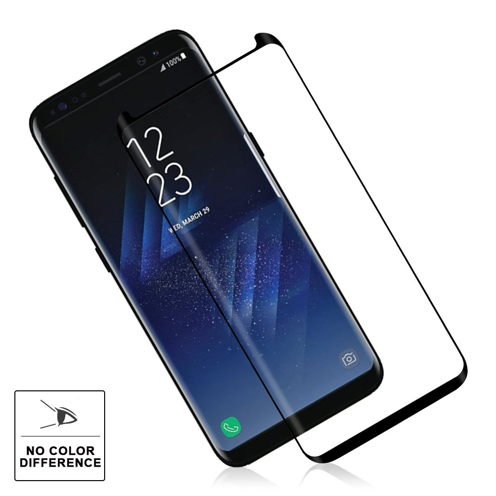 OTAO Galaxy S8 Tempered Glass Screen Protector [Update Version], Easy Installation [Case-friendly] Samsung S8 Tempered Glass Screen Protector with Installation Tray For Galaxy S8 by OTAO (Image #6)
