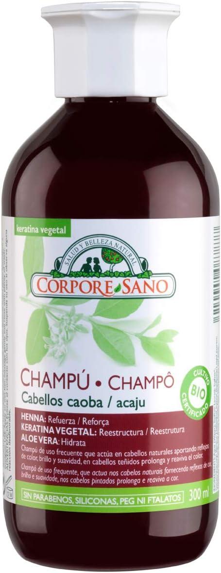 Champú Henna Caoba 300 ml de Corpore Sano