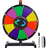 Voilamart 15' Tabletop Spinning Prize Wheel, Spin The Wheel Dry Erase, 10 Slots with Durable Plastic Base, 2 Pointer…