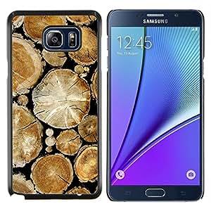 LECELL--Funda protectora / Cubierta / Piel For Samsung Galaxy Note 5 5th N9200 -- Pila de madera Cortar árboles de la selva Naturaleza --