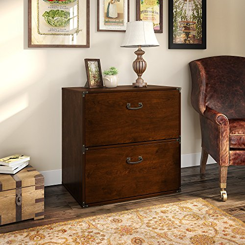kathy ireland Home by Bush Furniture Ironworks Lateral File Cabinet in Coastal Cherry