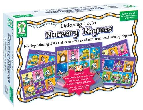 Listening Lotto: Nursery Rhymes Educational Board Game