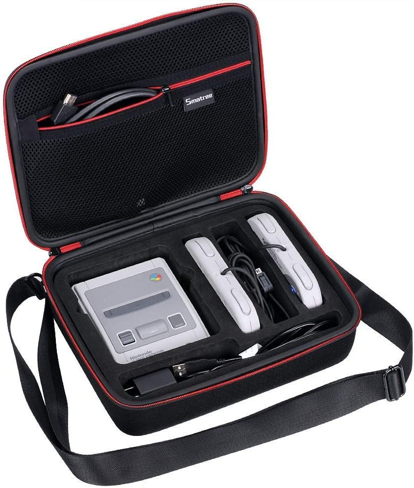 Funda para Super NES Classic Mini – Smatree Estuche Portátil dura de transporte, para la consola Nintendo SNES Classic Mini Negro