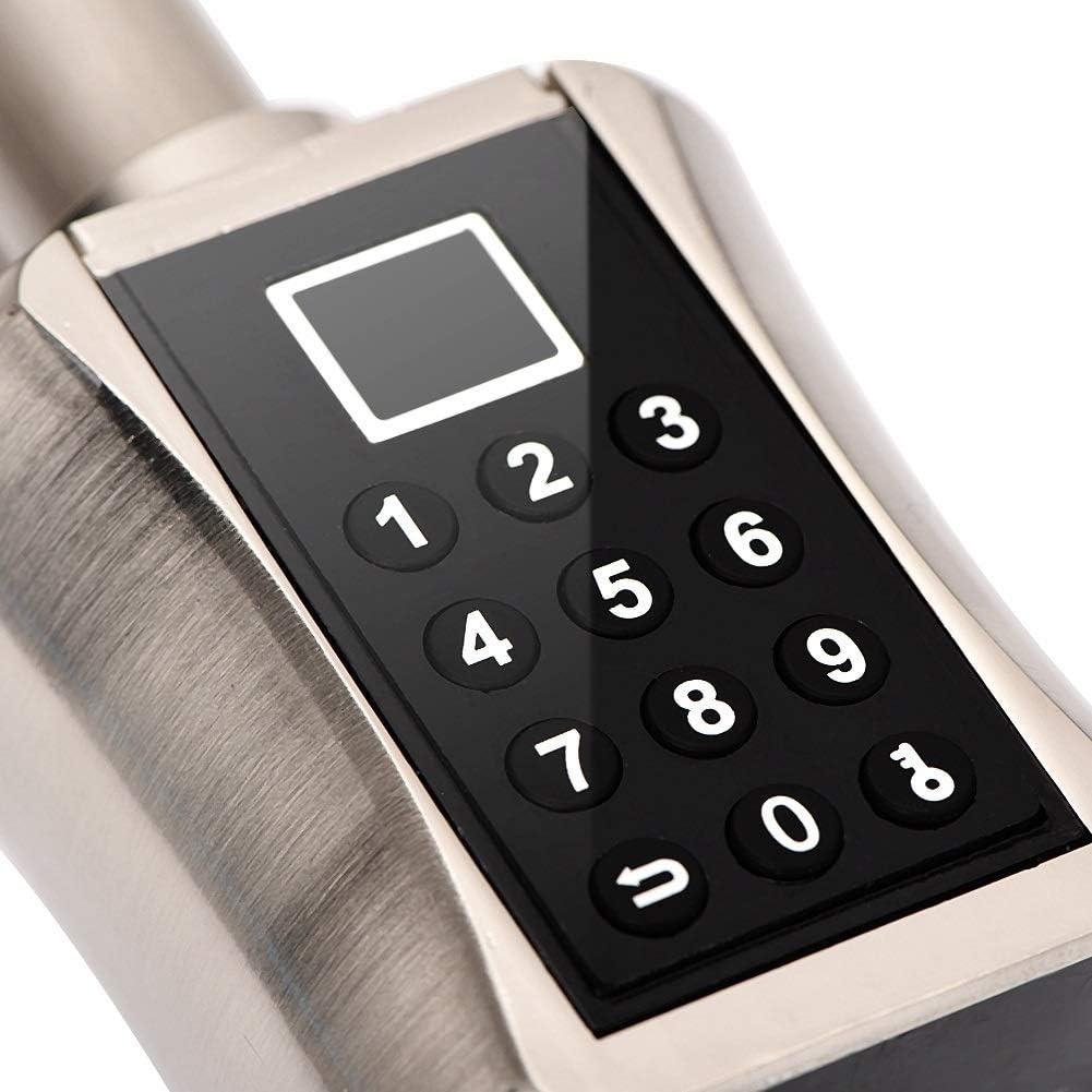 Rockyin Intelligente biometrische Fingerabdruck-Scanner T/ürschloss Passwort Code-Schloss for Smart Home