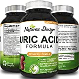 Uric Acid Kidney Support Vitamins for Men and Women - Herbal Cleanse Detox for Joint Pain Swelling & Stiffness Pure Tart Cherry Milk Thistle and Bromelain - Antioxidant Dietary Supplement for Health