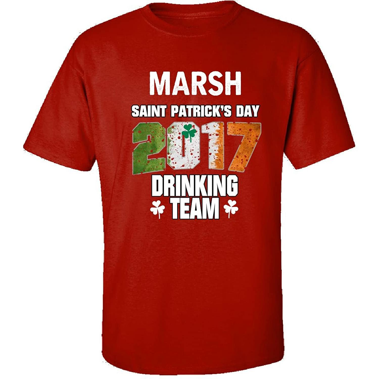 Marsh Irish St Patricks Day 2017 Drinking Team - Adult Shirt