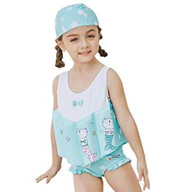 099d3f5539 Gogokids Girls Float Suit Floating Swimwear - Kids One Piece Buoyancy  Swimsuit Baby Sleeveless Swimming Costume
