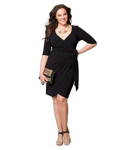 Kiyonna Women's Plus Size Harlow Faux Wrap Dress