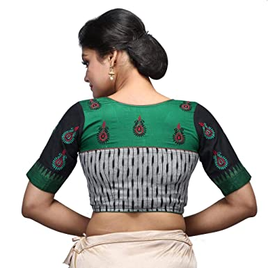 5b1ac57abacbac Intrigue Handloom Ikkat Blouse for Women  Amazon.in  Clothing ...