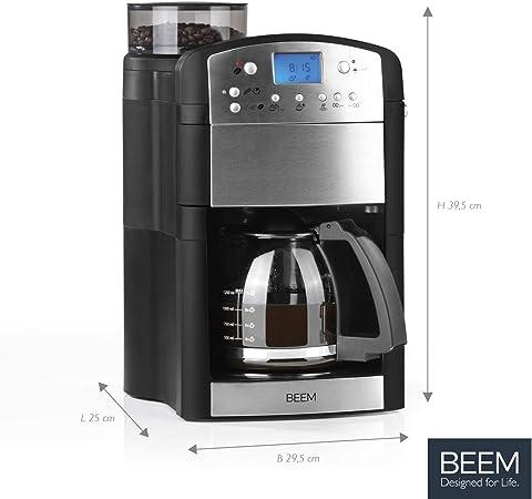 BEEM Fresh-Aroma-Perfect Thermolux | Cafetera con molinillo para ...