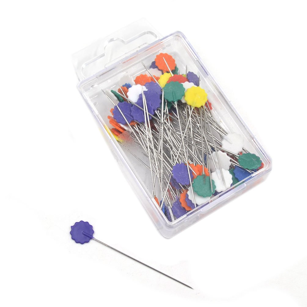 Lychee Patchwork Quilting Pins Flower Button Head Pins DIY Tool Sewing Accessories