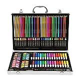 Watercolor Pencils Set Art Supply Luxury Artist Studio Creative Set 143 Pieces Of Alloy Portable Art Including Watercolor, Crayons, Colored Markers, Colored Pencils, Etc. Multi Colored Art Drawing Pen