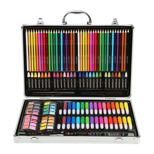 Artist art drawing set, Art Supply Luxury Artist Studio Creative Set 143 Pieces Of Alloy Portable Art Including Watercolor, Crayons, Colored Markers, Colored Pencils, Etc. Gifts for children and child by JIANGXIUQIN (Image #3)