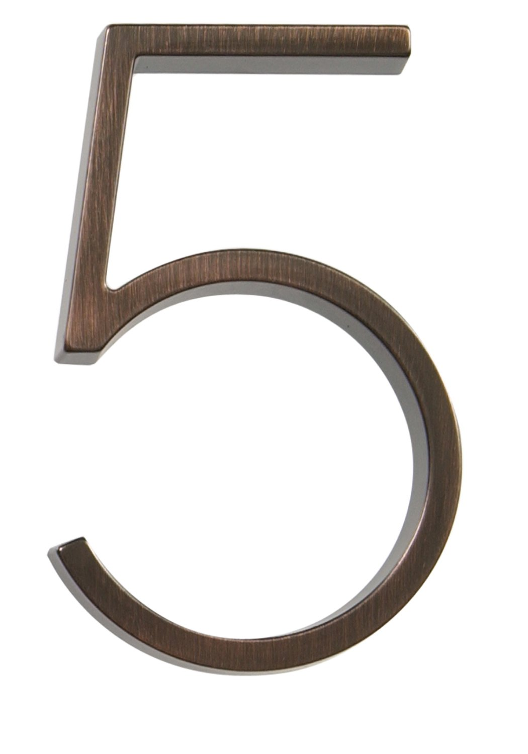 """Hillman 843225 5/"""" Aged Bronze Floating House Number 5"""