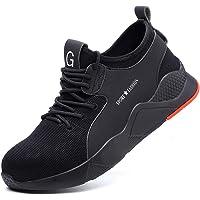 Zapatos de Seguridad Hombre Mujer Ligero Calzado Trabajo Zapatillas con Punta Acero Industriales Transpirable Seguridad…