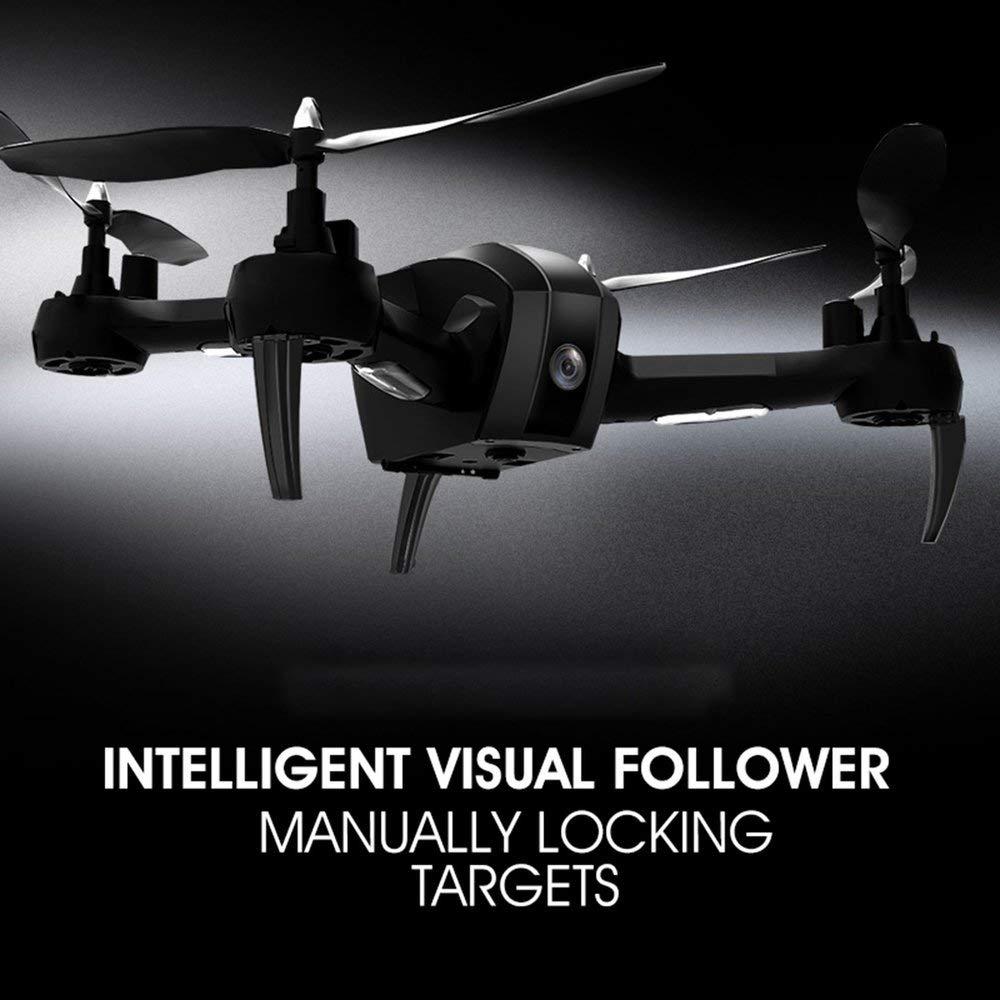 Erduo 1080P WiFi FPV HD Kamera SH7 RC Drohne RC Quadrocopter Set Höhe Schweben Geature Selfie Intelligent Folgen Ziel - schwarz