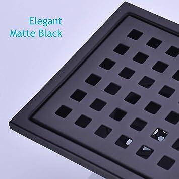 Details about  /Premium ElectroplatedSquare Matte Black Floor Waste Grate Drain
