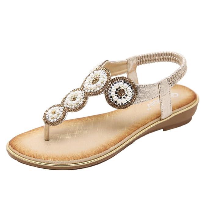 Vectry Sandalen Damen Absatz Plateau Flach Keilabsatz Schuhe Damen Schuhe Gladiator Leder - Fashion New Sandalen...