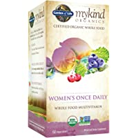 Garden of Life Multivitamin for Women - mykind Organic Women's Once Daily Whole Food Vitamin Supplement, Vegan, 60 Count Tablets
