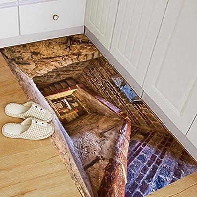 Escalera De Caracol 3D Piso Pegatinas De Pared Extraíble Tatuajes Murales Art Living Room 60 * 120 Cm: Amazon.es: Hogar
