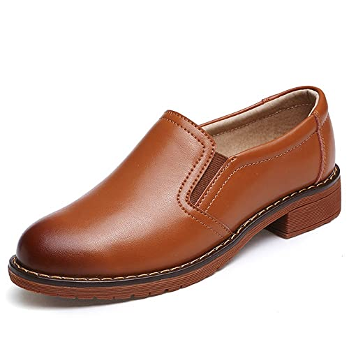 Hishoes - Mocasines de piel vacuna para niña: Amazon.es: Zapatos y complementos