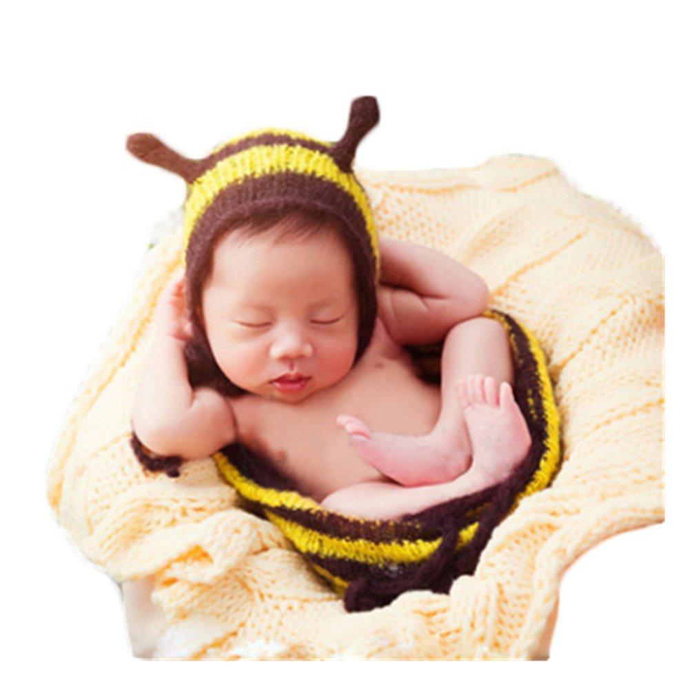 ca7012a72 Amazon.com  Newborn Baby Photography Props Boy Girls Mohair Bee Hat ...