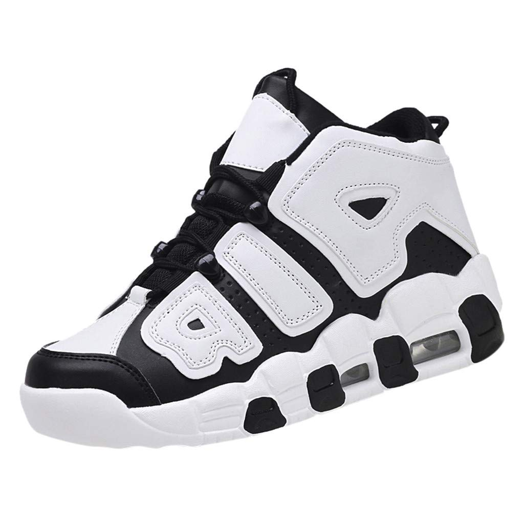 Yomiafy Men's Basketball Shoes Casual Athletic Shoes Wearable Comfortable High-Top Sneakers(Black,US:8) by Yomiafy-Men Shoes