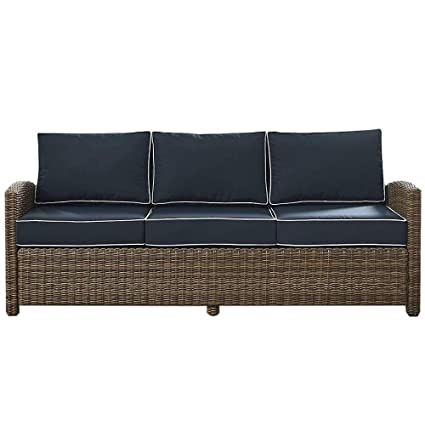 Amazon.com: BS 3-Seat Outdoor Sofa with Cushions Wicker ...
