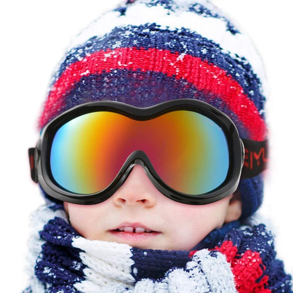27b2c5d101 WADEO Gafas de esquí para niños Anti-Niebla a Prueba de Viento, Adecuado  para