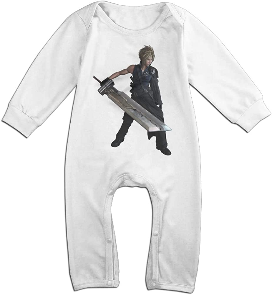 Final Fantasy Vii Advent Children Logo Baby Onesie Romper
