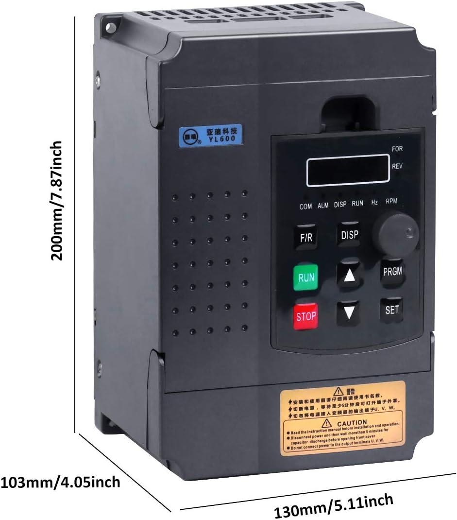 VFD Inverter 220V Single-Phase Input Single-Phase Output Frequency Converter New