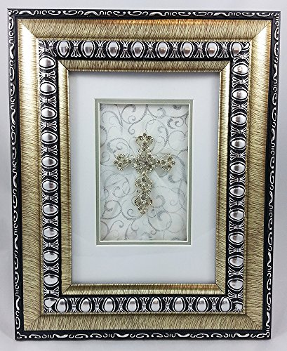 CB Gift Heartfelt Collection Shimmering Faith Framed Tabletop Cross 8 x 10-Inches -