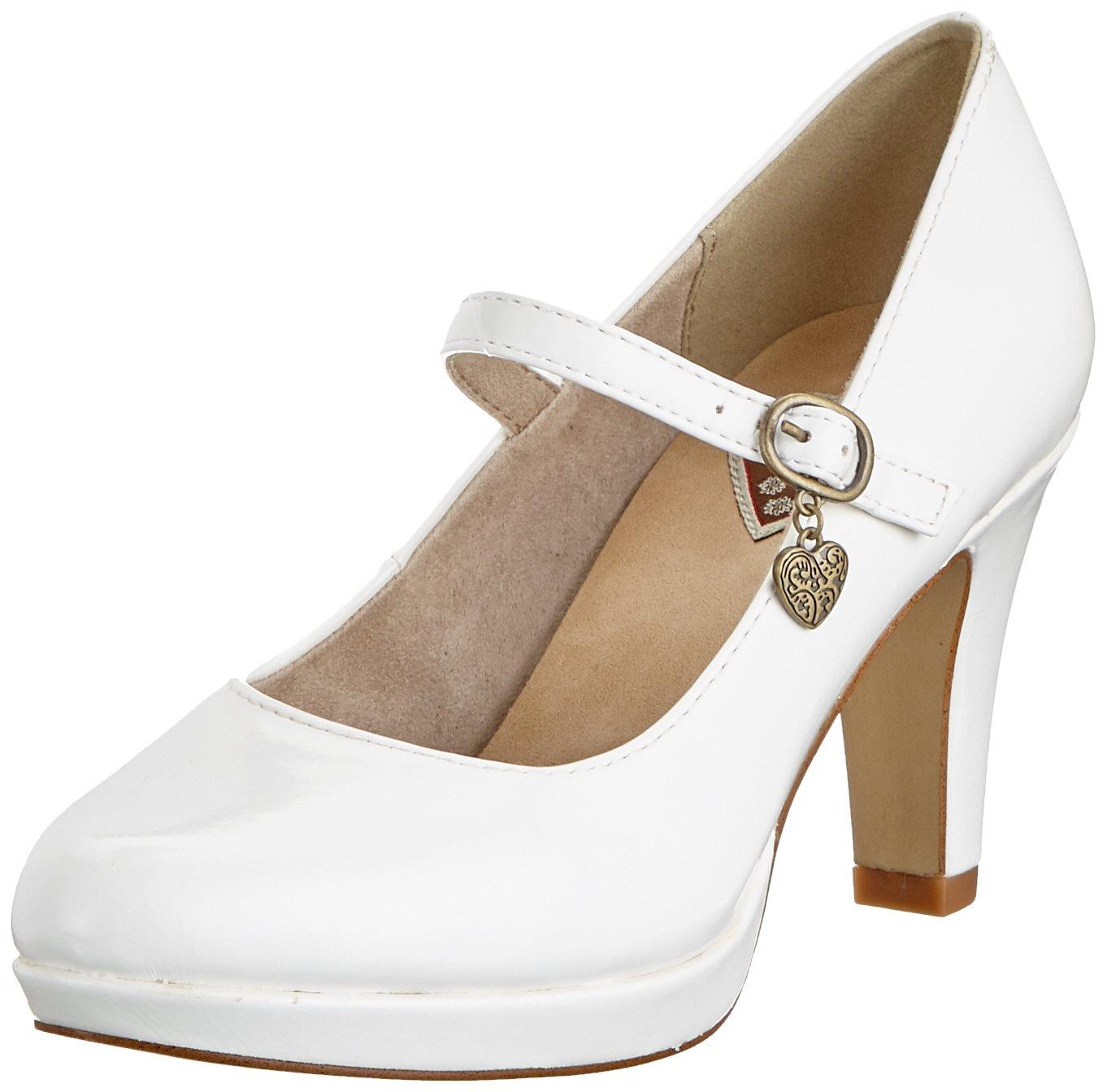 s.Oliver 24400-31, Zapatos de Tacón para Mujer 41 EU Blanco (White Patent 123)
