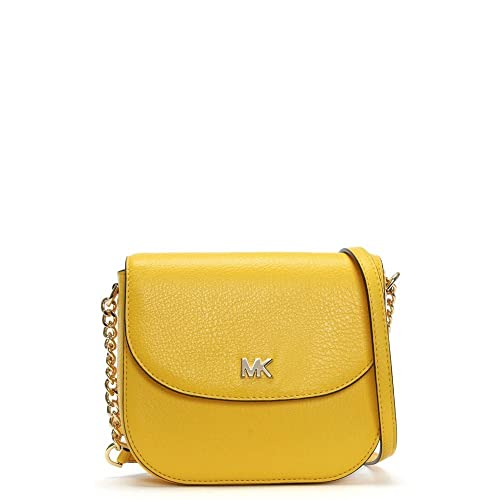 83eb9e8b0f0c Michael Kors Half Dome Sunflower Leather Cross-Body Bag Yellow Leather