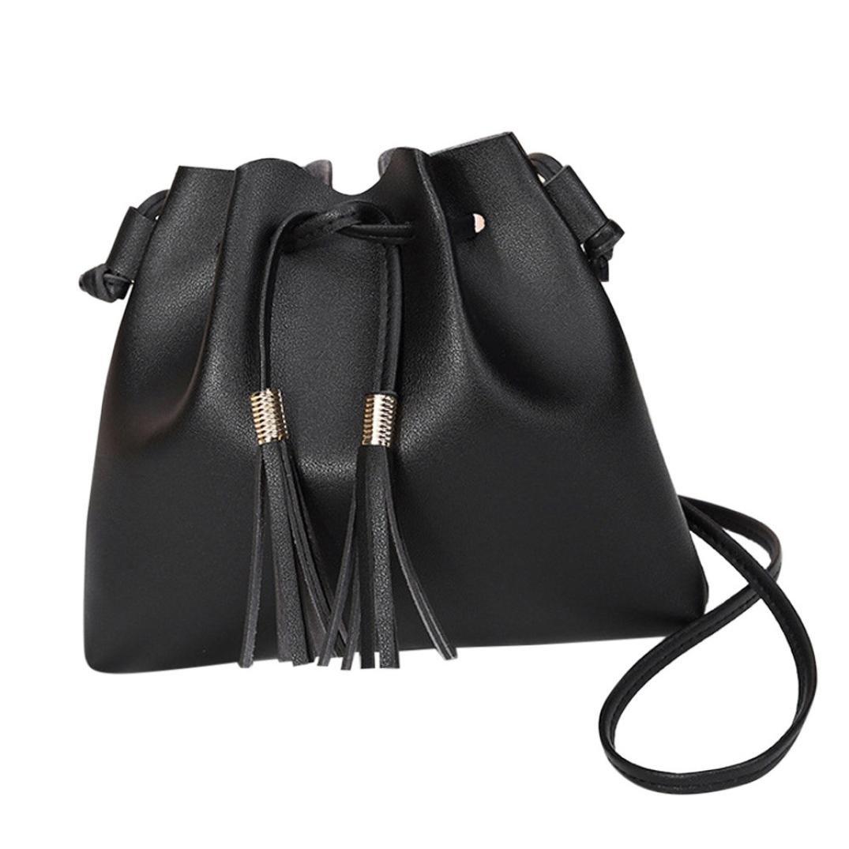 6a8b534188 Women Girls Tassels Leather Bag Shopping Handbag Shoulder Tote Bag  Crossbody Bag Shoulder Bag Phone Bag Coin Bag