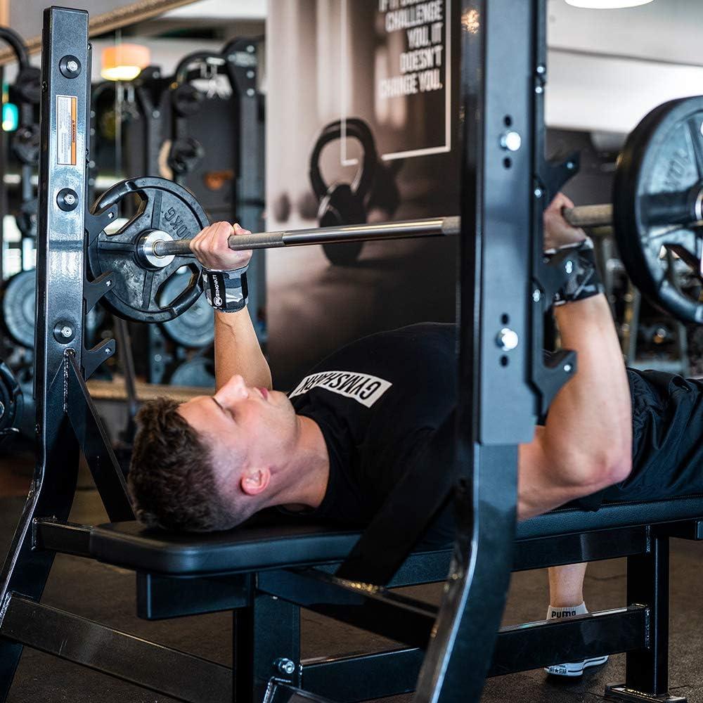 Culturismo Crossfit 80/% algod/ón Deportes de Fuerza y Gimnasia para Mujeres y Hombres calistentics Mu/ñequeras para Fitness Levantamiento de Potencia SINOVATI/®