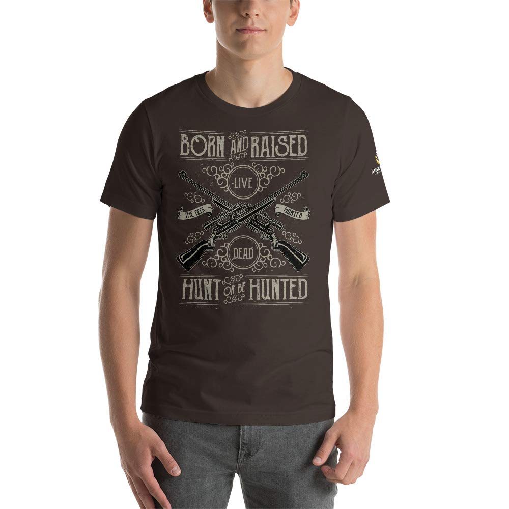 AnarchoCoffee Hunt or Be Hunted Short-Sleeve T-Shirt Brown
