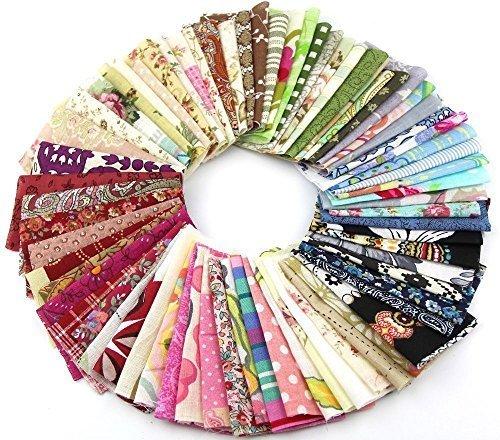 50pcs-1010cm-fabric-patchwork-craft-cotton-material-batiks-mixed-squares-bundle