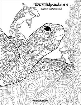 Kleurplaten Voor Volwassenen Schildpad.Schildpadden Kleurboek Voor Volwassenen 1 Volume 1 Amazon Co Uk