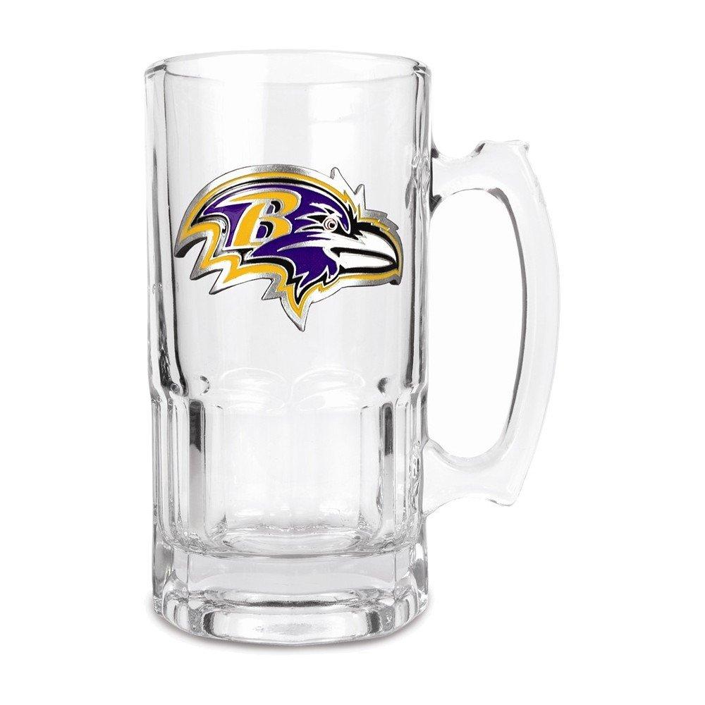Jewelry Adviser Nfl Gifts NFL Ravens 1-liter Glass Macho Tankard