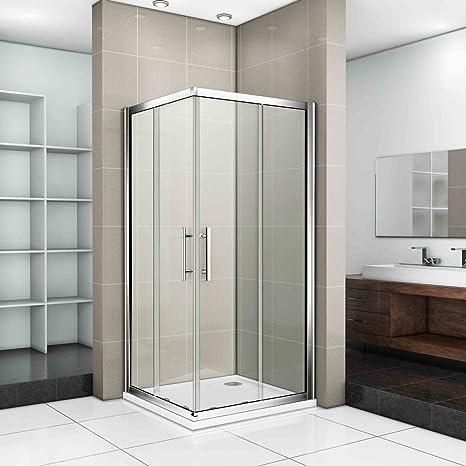 Doppie porte scorrevoli doccia, ESG, 1000x1000mm door + tray + waste ...