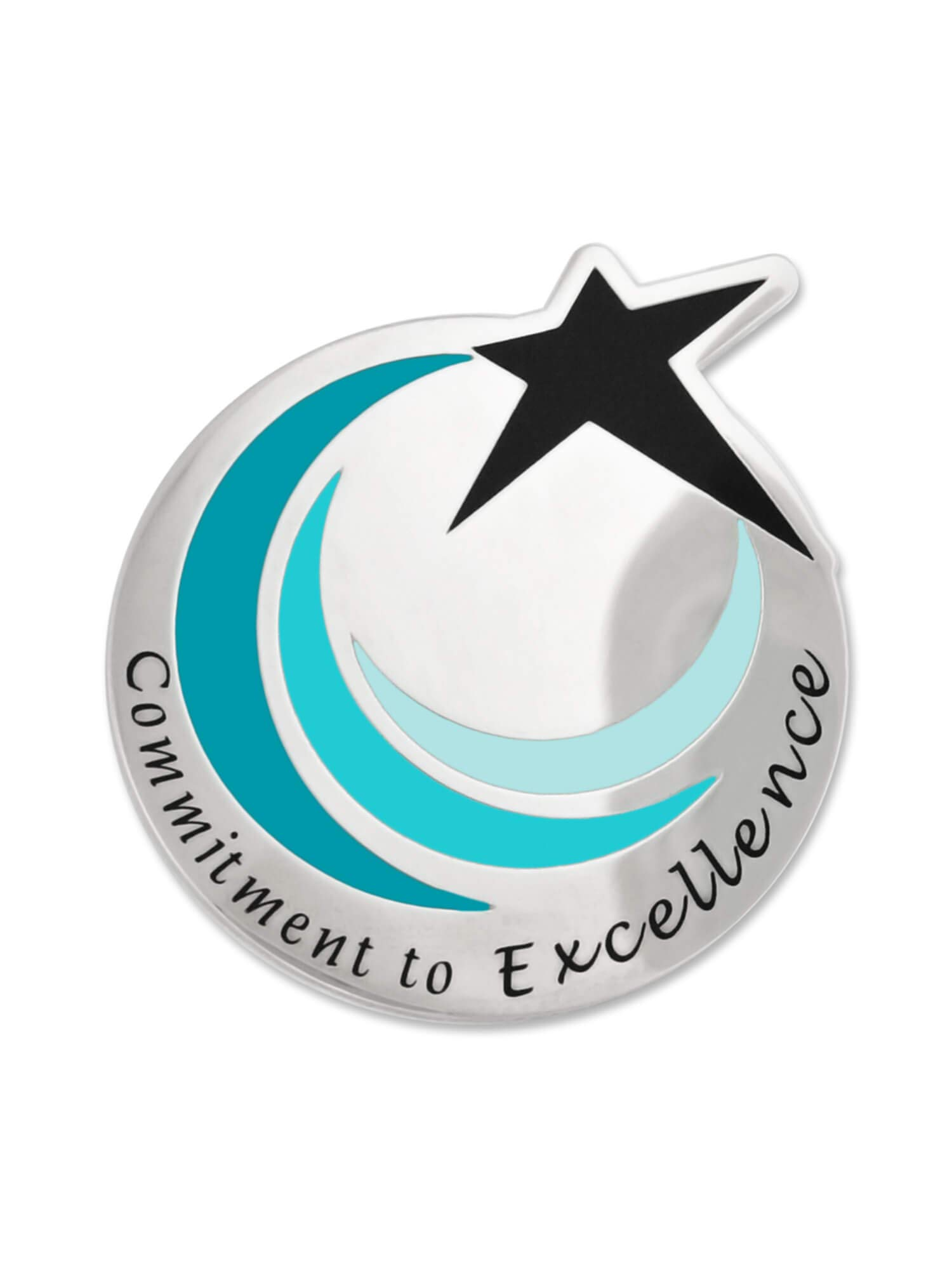 PinMart Commitment To Excellence Recognition Service Star Lapel Pin