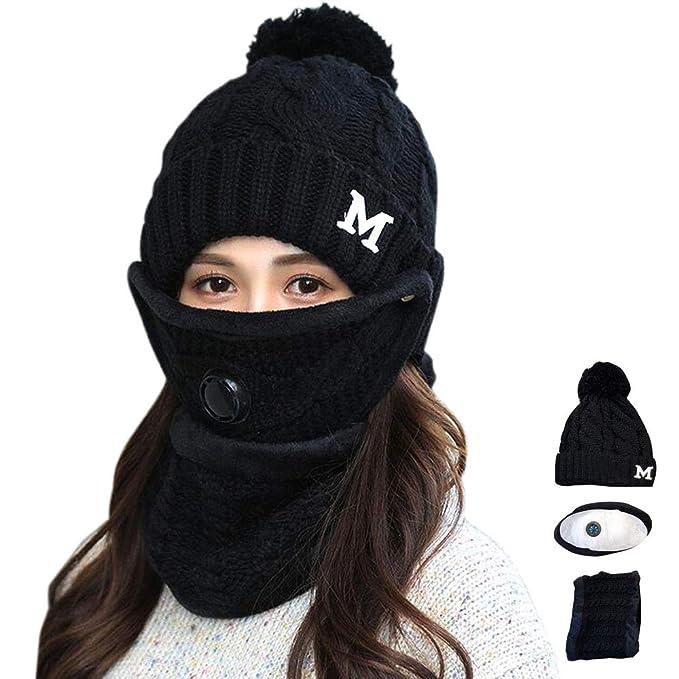 Amazon.com: Juego de 3 pañuelos y máscaras de invierno para ...