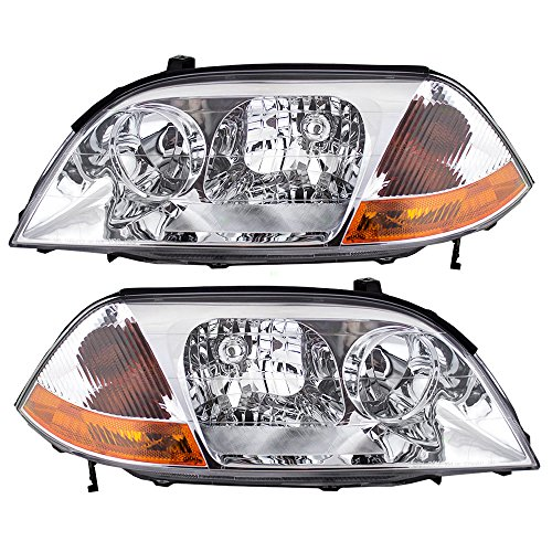 Driver and Passenger Headlights Headlamps Replacement for Acura 33151S3VA01 33101S3VA01